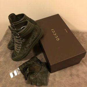 Gucci Coda Sneaker military green 8.5G US 9.5